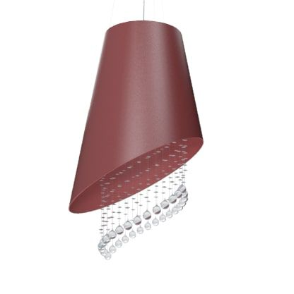 Pendente Accord 1195 Cone Cortado Cristais 2L Gu10 Ø340x400mm