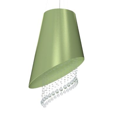 Pendente Accord 1197 Cone Cortado Cristais 4L Gu10 Ø600x700mm
