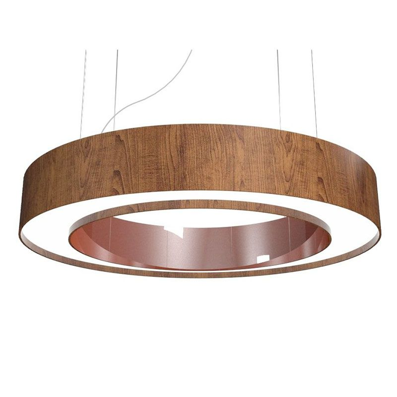 Pendente Accord 1221CO Anel Cilíndrico Cobre Led 25W 2700K Bivolt Ø800x120mm