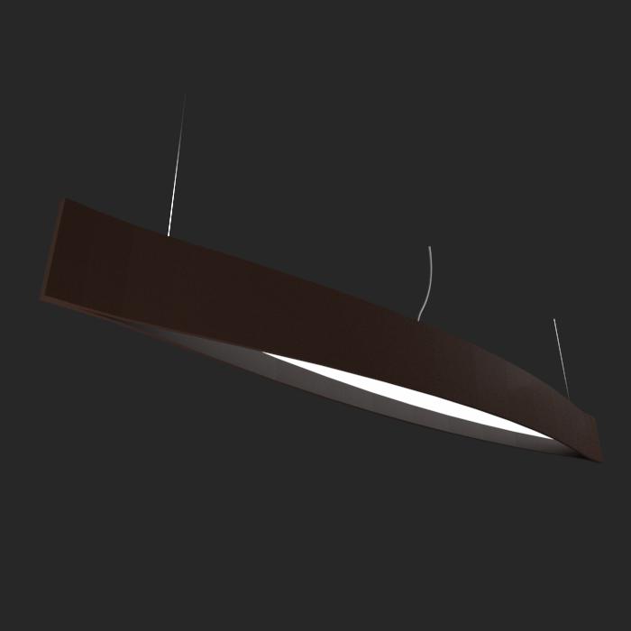 Pendente Madeira Accord 1230 Canoa Led 23W 2700K Bivolt Ø1900x200x160mm