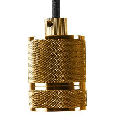 Pendente Bella DA002B Socket 1L E27 Bivolt Ø4,8x6cm Dourado