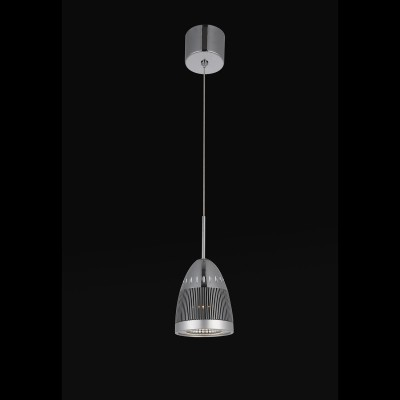 Pendente Bella JD003 Strano 1L LED 5W Ø10x13cm - Cromado