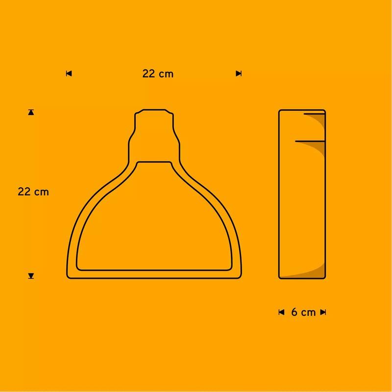 Pendente Carambola PUP Up 1L E27 Bivolt 220x220x60mm Preto