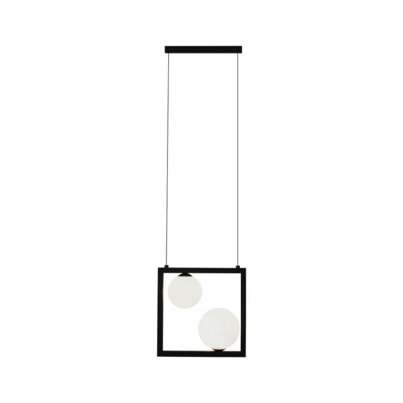 Pendente Casual Light Quality PDH1533PT Orbit  2L G9 10W 260X120X260mm Preto Total