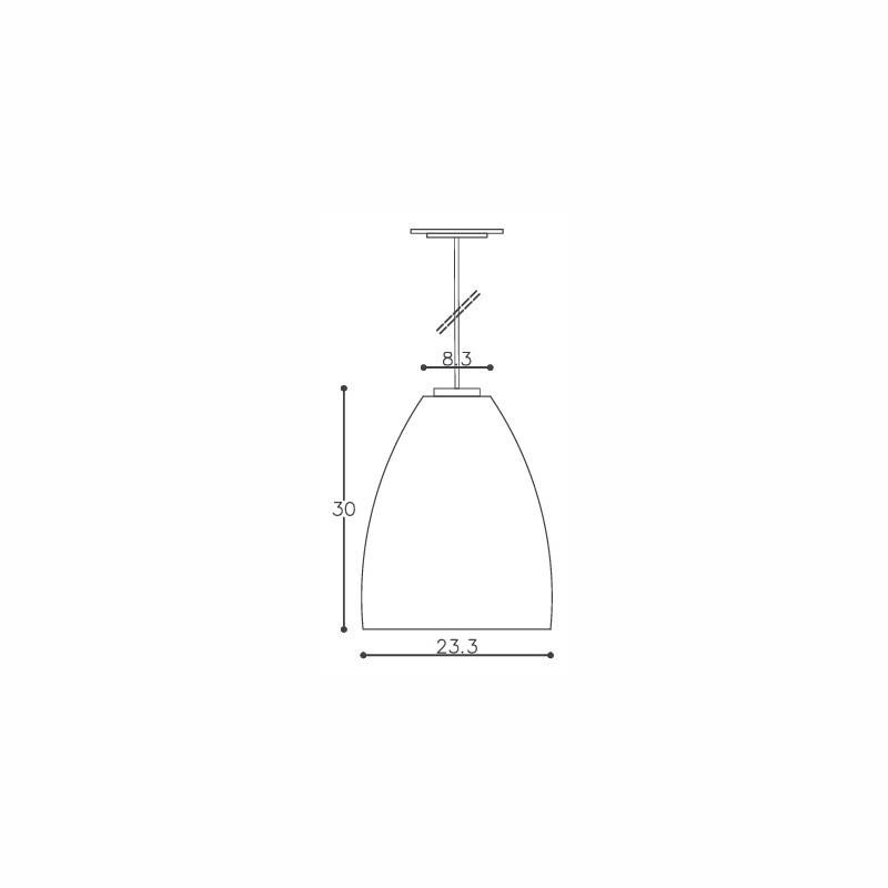 Pendente DM Lumi 603/1 Tarsila 1L E27 Ø233x300mm