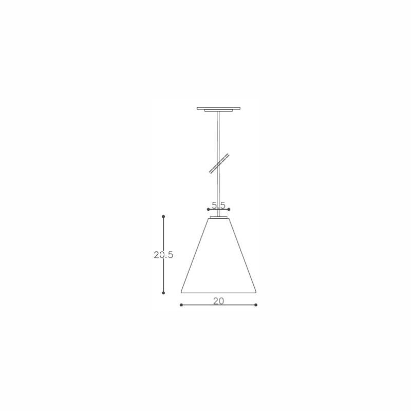 Pendente DM Lumi 604/1 Catarina 1L E27 Ø200x205mm