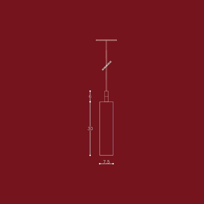 Pendente DM Lumi 683/1 Cila 1L E27 Ø75x300mm