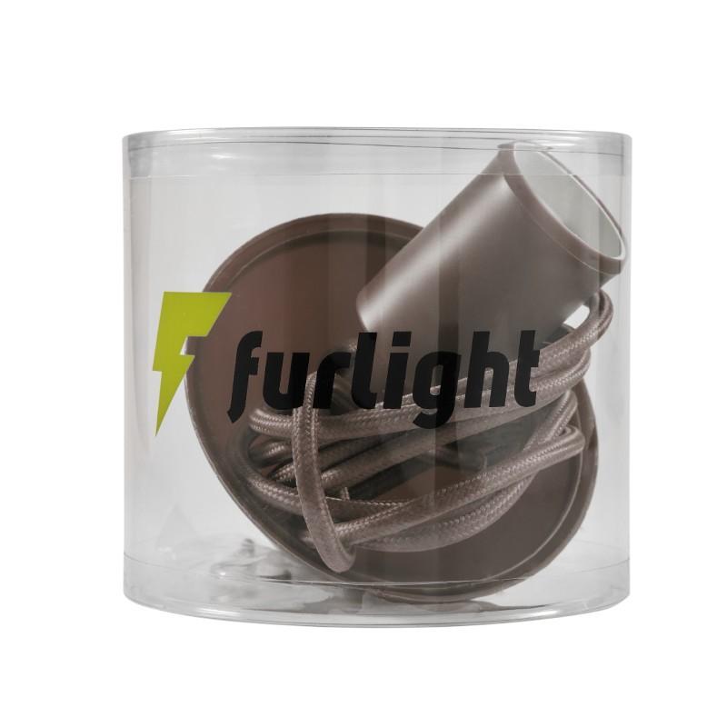 Pendente Furlight FL4016-OL Color E27 Ø40x95mm Café