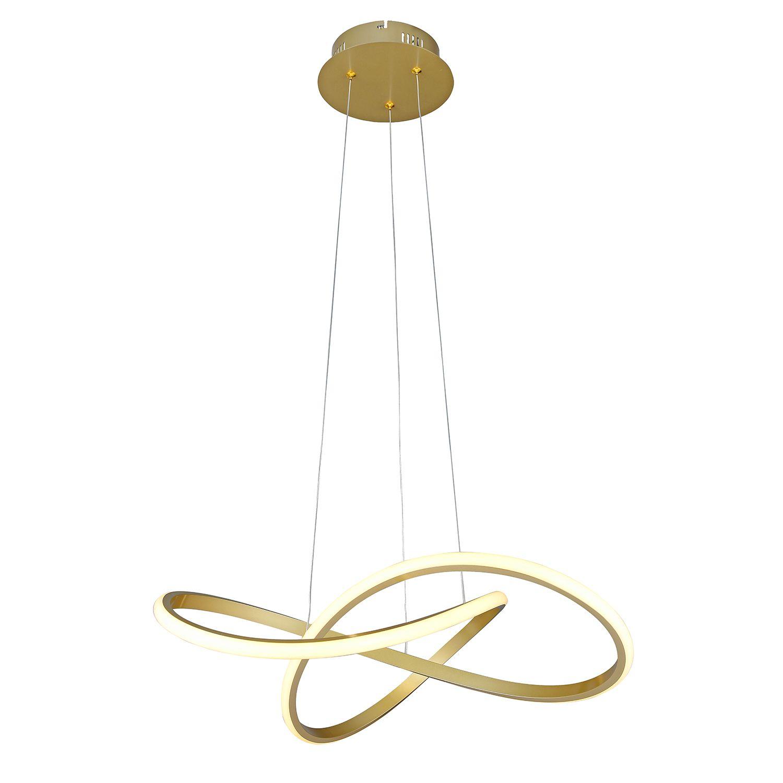 Pendente LED Bella SB001 Fluire 432x 0,2W 3000K BIvolt 30x62x62cm Dourado