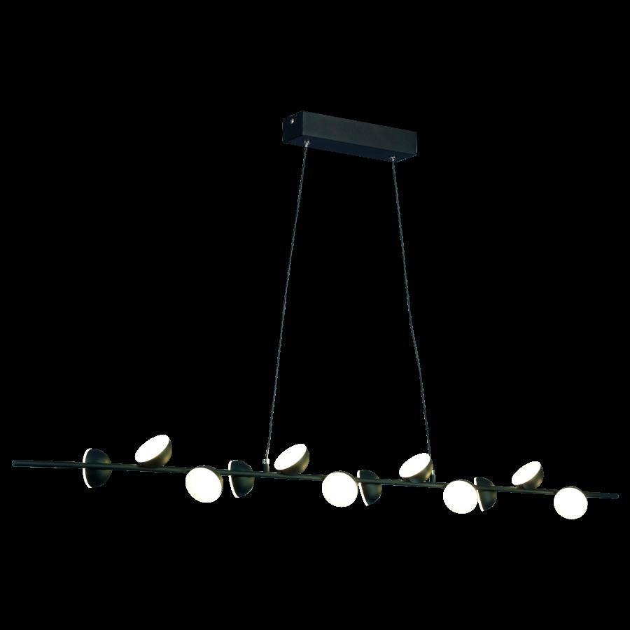 Pendente LED Mantra 30498 Piccioni 36W 3000K Bivolt 1000x70x120mm - Preto/Ouro Velho