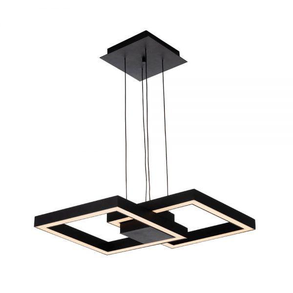 Pendente LED Newline 705LED3 Fit 50,4W 3000K Bivolt 410x410x65mm