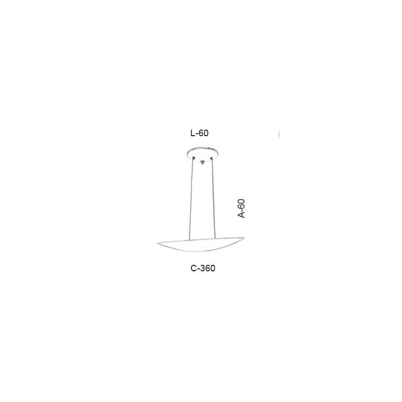 Pendente Led Old Artisan PD-5375 16.5W 2700K 220V 60x60x360mm