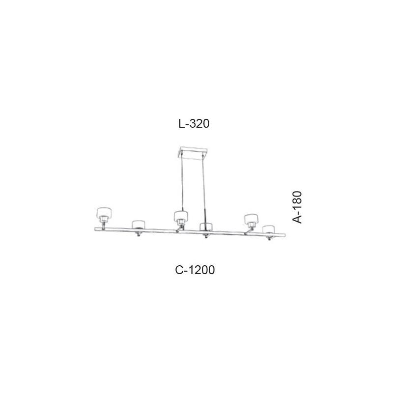 Pendente Led Old Artisan PD-5393 33W 2700K 110V 180x320x1200mm