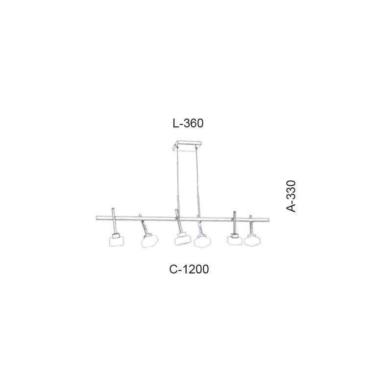 Pendente Led Old Artisan PD-5400 33W 2700K 220V 330x360x1200mm