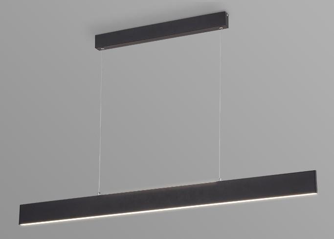 Pendente LED Opus DN34287 Matrix Facho Duplo 30W 4000K IP20 Bivolt 1185x15mm Preto
