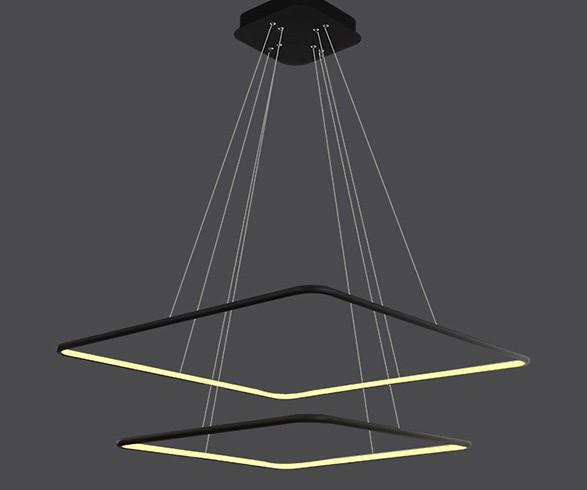 Pendente LED Opus DN34331 Hox 66W 3000K IP20 Bivolt Ø60x60mm Preto