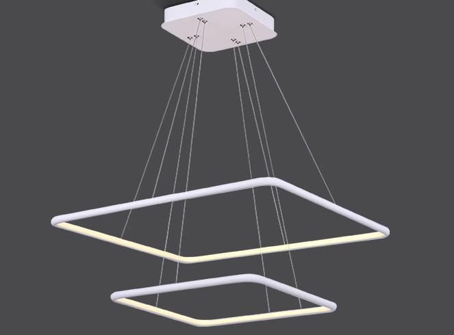 Pendente LED Opus DN34348 Hox 66W 3000K IP20 Bivolt Ø60x300x60mm Branco
