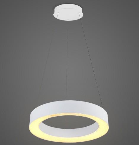 Pendente LED Opus DN35802 Vênus 24W 3000K IP20 Bivolt Ø500x2000mm Branco