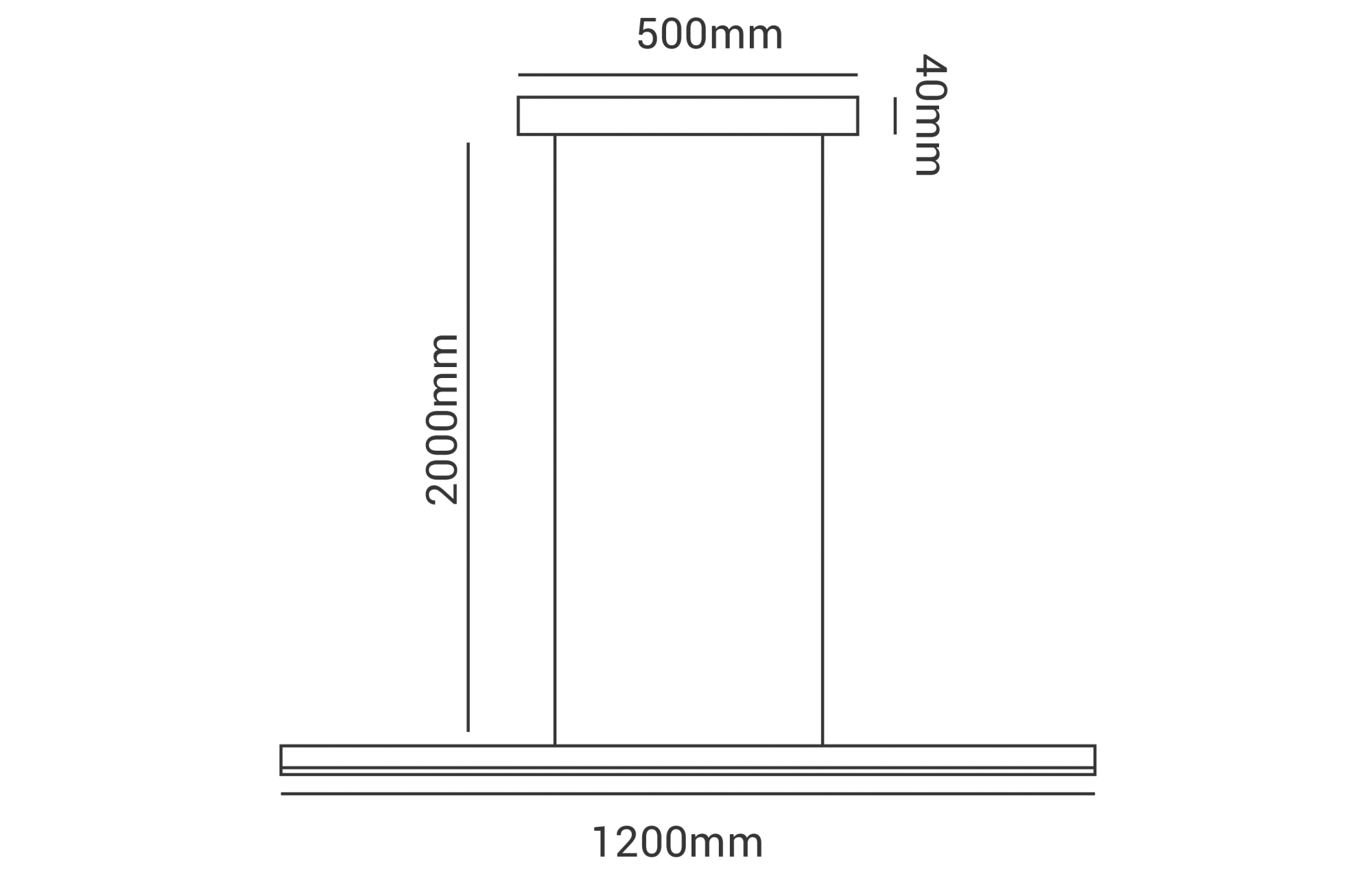 Pendente LED Opus DN35819 Zion 41W 4000K IP20 Bivolt Ø1200x500x2000mm Preto