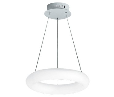 Pendente LED Opus DN38018 Hole 27W IP20 Bivolt Ø460x200x100mm