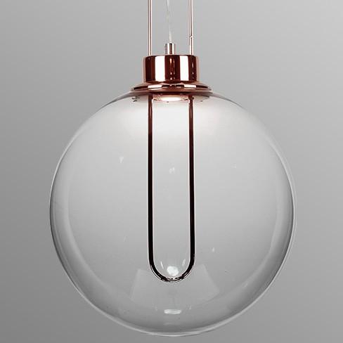 Pendente LED Opus DN38322 Clips 3W 3000K IP20 Bivolt Ø300x2000mm Cobre