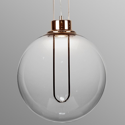 Pendente LED Opus DN38339 Clips 3W 3000K IP20 Bivolt Ø300x2000mm Conhaque