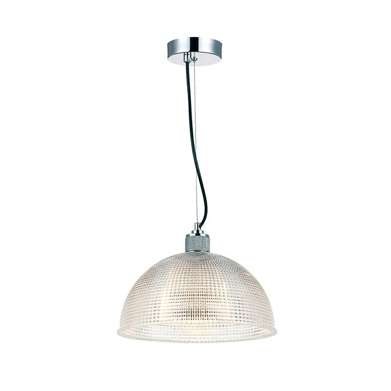 Pendente Casual Light Quality PD1031-CR Vidro e Metal 1L E27 Ø345x250mm Cromado