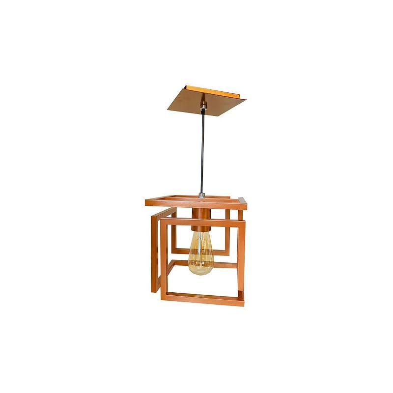 Pendente Tupiara 200/1-PE Cube 1L E27 200x200mm