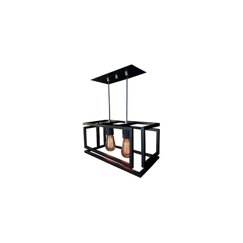 Pendente Tupiara 200/2-PE Cube 2L E27 400x200mm