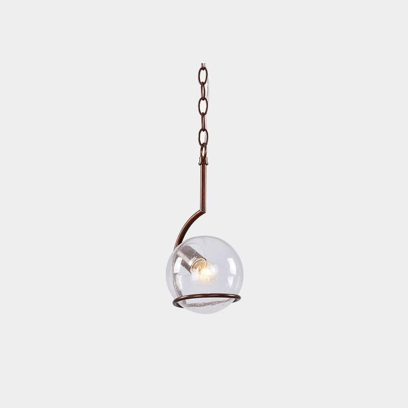 Pendente Tupiara 9-4201-PE-MC Sphere 1L E14 Ø170x300mm Marrom Corten