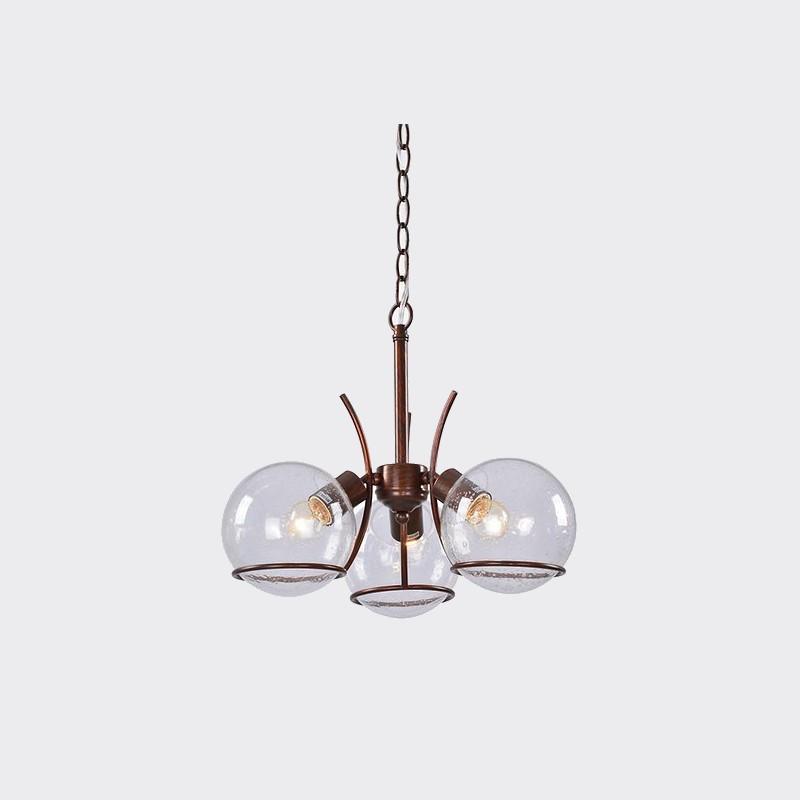 Pendente Tupiara 9-4203-PE-MC Sphere 3L E14 Ø430x300mm Marrom Corten