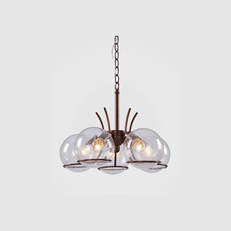 Pendente Tupiara 9-4205-PE-MC Sphere 5L E14 Ø460x300mm Marrom Cortain