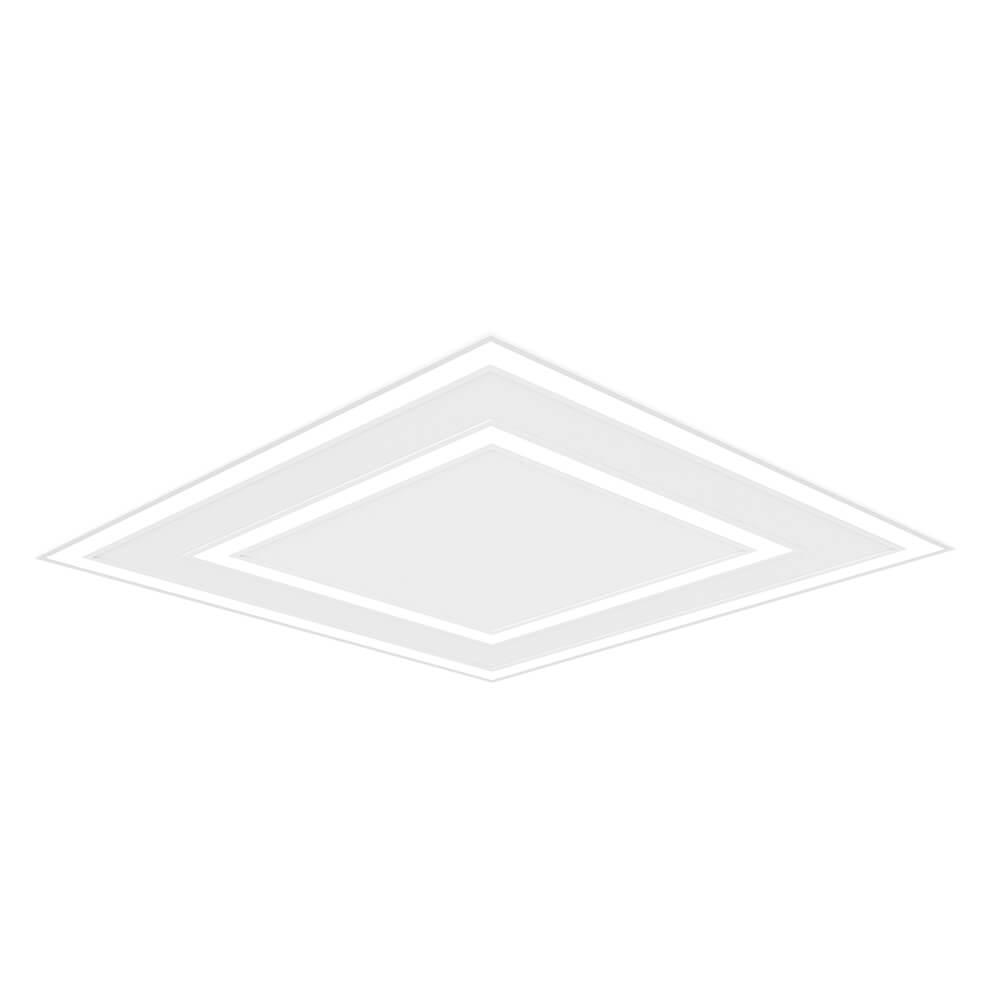 Perfil Embutir Duplo LED Newline EM0125LED4 Fit Edge 65,6W 4000K Bivolt 616x616x40mm