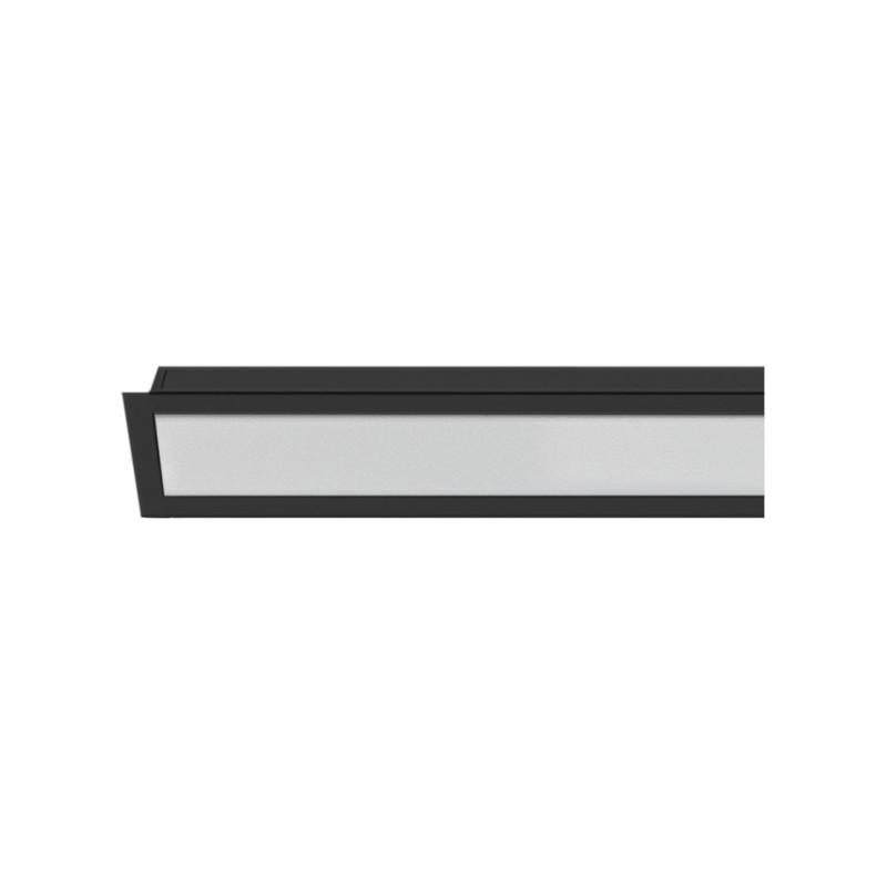 Perfil Embutir LED Save Energy SE-255.2120 LLS FLEX II 50W 4000K 2000lm 2000x35x17,5mm - Preto