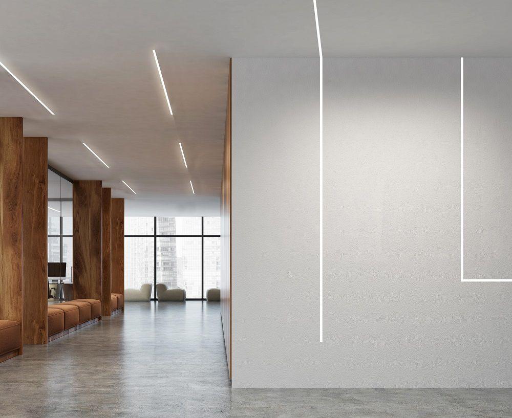 Perfil Embutir Linear LED Newline SL0126LED3 Fit 25 25,2W 3000K Bivolt 2045x36x45mm