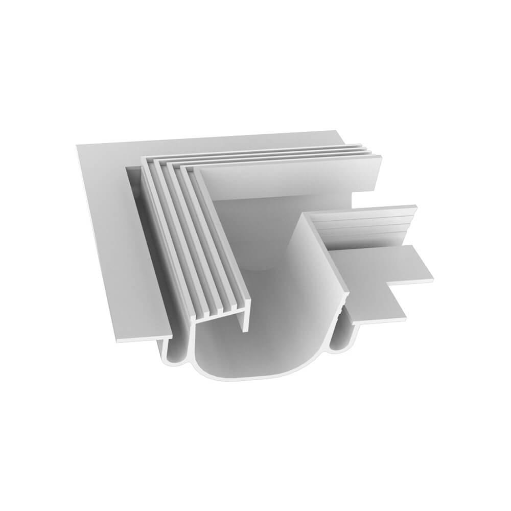 Perfil Embutir Newline PELS000D LineUp para Fita LED Junção Lateral Direita - Branco