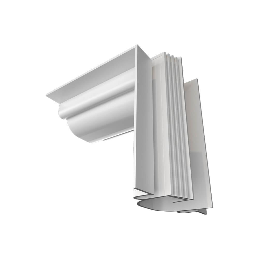 Perfil Embutir Newline PELS002 LineUp para Fita LED Junção Ângulo Aberto - Branco