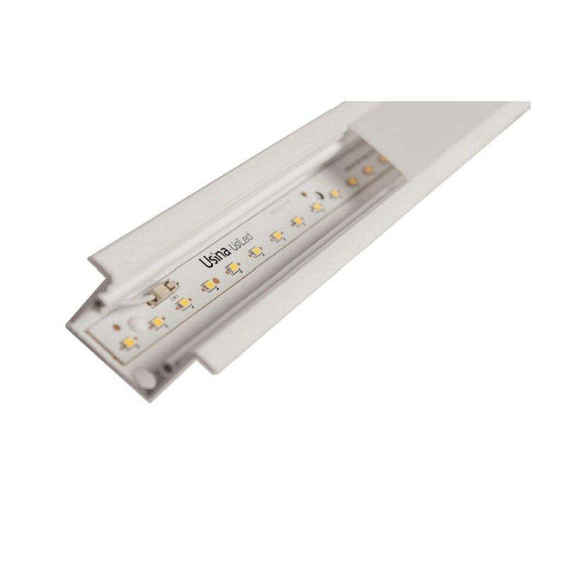 Perfil Embutir Linear Usina 19100/128LED4 Trail com Led Integrado 30,5W 4000K Bivolt 45x1280x27mm