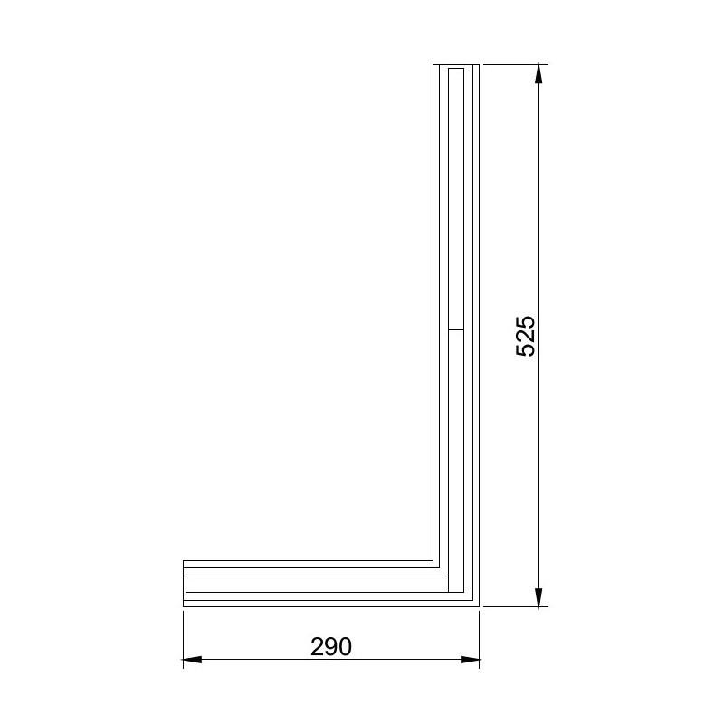 Perfil Embutir Linear Usina 19102/52LED3D Trail Junção Teto/Teto Direita com Led Integrado 18,3W 3000K Bivolt 290x525x27mm