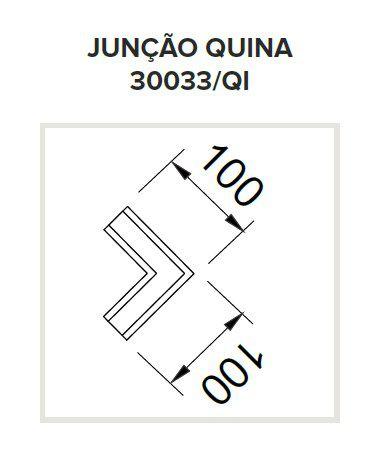 Perfil Embutir para Fita LED Usina 30033/QI Garbo Junção Quina 100x100mm