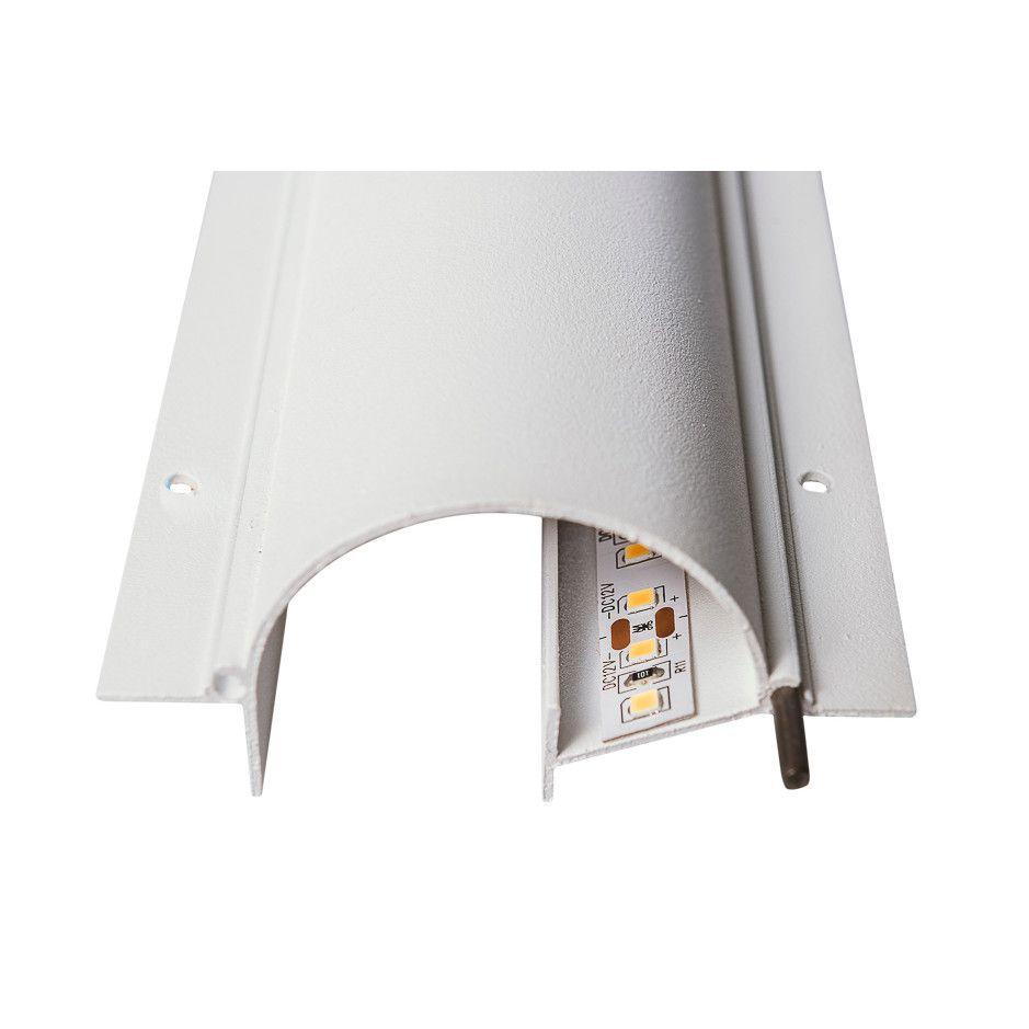 Perfil Embutir para Fita LED Usina 30660/200 Fenda No Frame Iluminação Indireta 200cm 83x2000x40mm