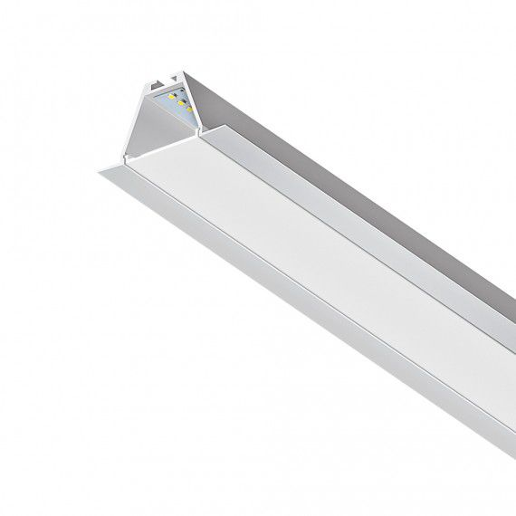 Perfil Embutir Linear LED MisterLED SLED9004N 14,4W/M 12V IP20 57x35mm - Branco