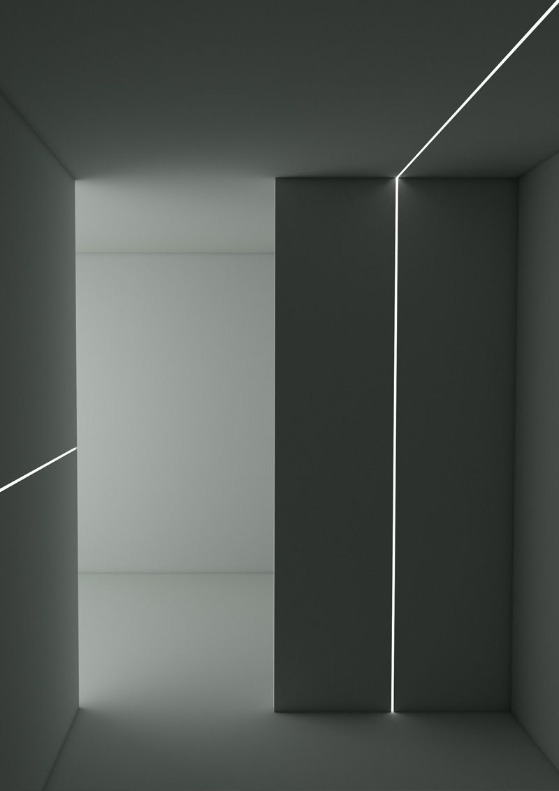 Perfil Embutir Newline PELS050 LineUp para Fita LED 500x85x35mm - Branco