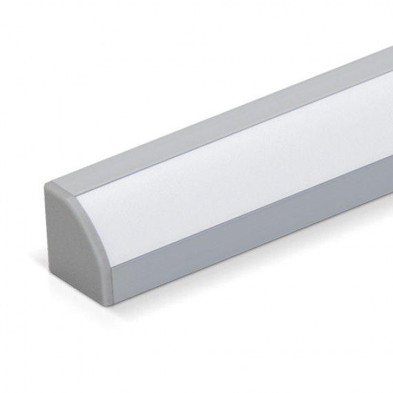 Perfil Sobrepor LED Canto MisterLED SLED9000 Canto 90G 9,6W/M 12V IP20 19x19mm