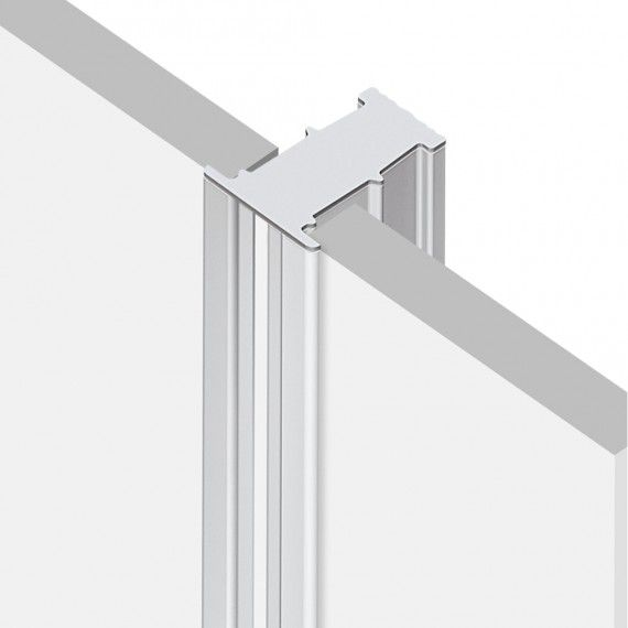 Perfil Embutir Linear LED MisterLED SLED9013 R2 12W/M 12V 2700K IP20 25mm - Branco
