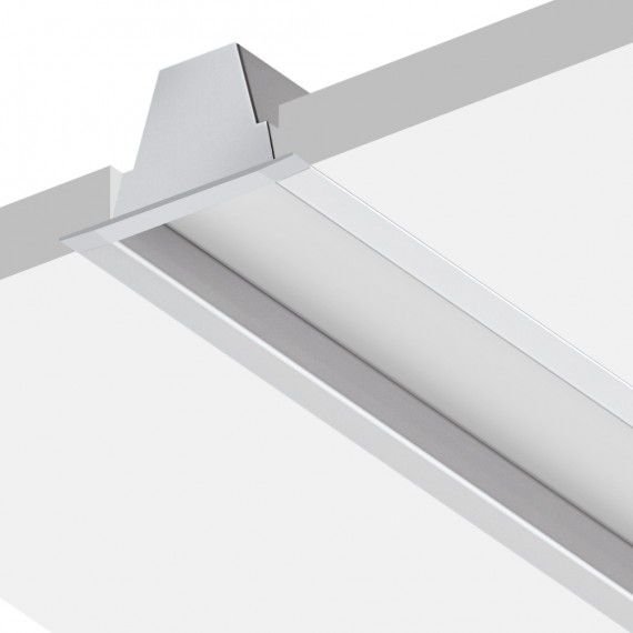 Perfil Embutir Linear LED MisterLED SLED9014 E73 Recuado Anti-Glare 14,4W/M 12V IP20 73x62mm - Branco