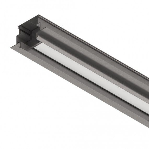 Perfil Embutir Linear LED MisterLED SLED9018 K35 Semi Embutido 14,4W/M 12V IP20 90x38mm