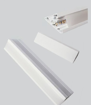 Perfil Sobrepor Linear para Fita LED Usina 30040/50 Sanca 50cm C/ Difusor 47,5x500x67mm