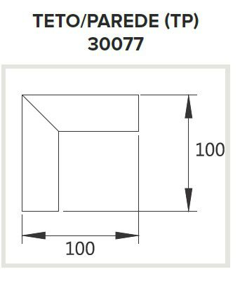 Perfil Sobrepor para Fita LED Usina 30077/TP Nazca Junção Teto/Parede 100x100mm