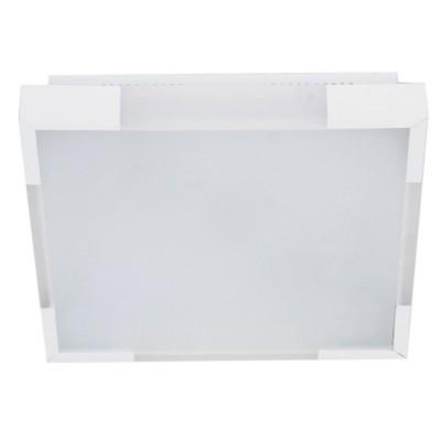 Plafon Bella CM4412W Alumínio/Acrílico/Vidro 2L E27 36x36cm Branco